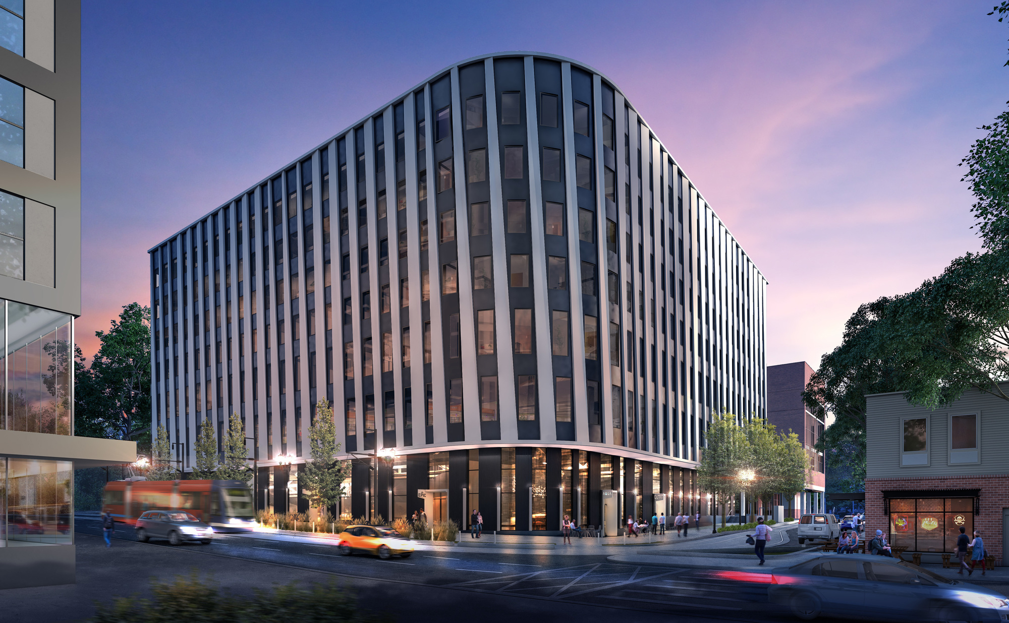 Rendering of New School of Public Health building